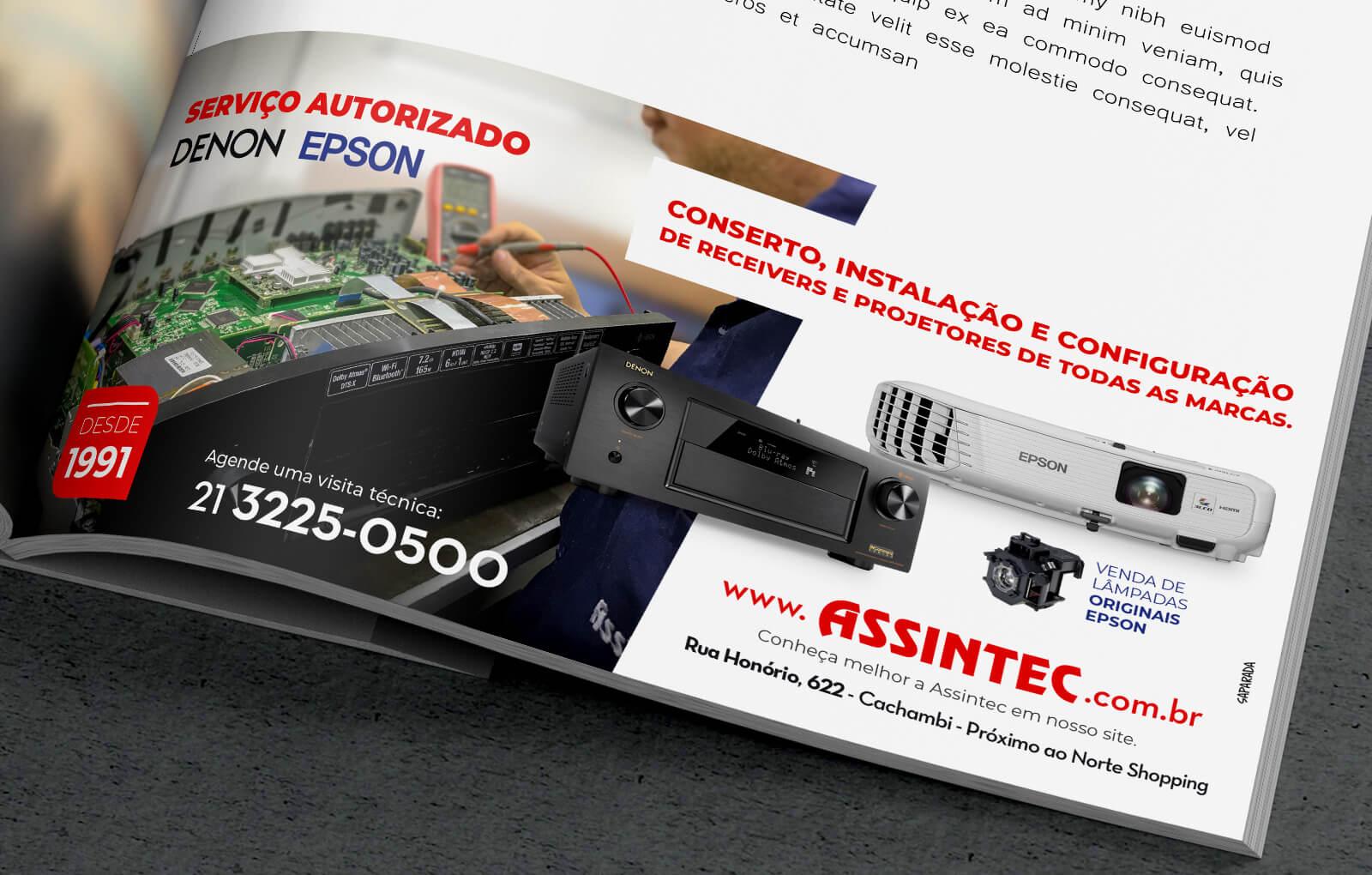 Anúncio sobre assistencia Técnica Assintec