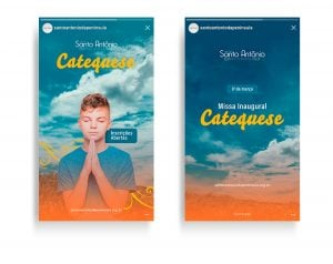 Stories Campanha de incentivo a Catequese